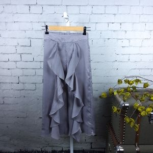 Joyfolie Nicolette Ruffled Lounge Pants Grey 14